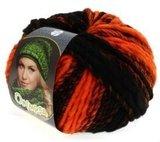 Lana Grossa Olympia Neon kleur 202 Oranje Zwart