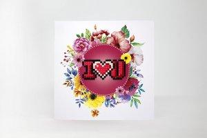 Diamond Paint Card I Love You WC0157