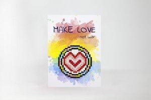 Diamond Paint Card Make Love Not War WC0205