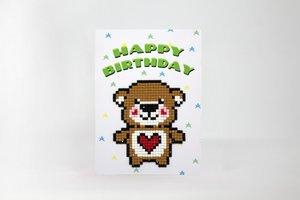 Diamond Paint Card Happy Birthday WC0325