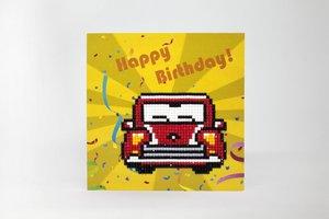 Diamond Paint Card Happy Birthday WC0275