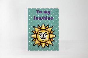 Diamond Paint Card To My Sunshine WC0295