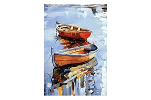 Wizardi Diamond Painting Kit Boats WD122
