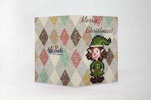 Diamond Paint Card merry christmas (elf) WC0426
