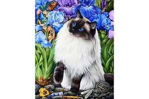 Wizardi Diamond Painting Kit Amongst the Irises WD2419