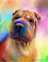 star light diamond painting kit Hond in Kleuren