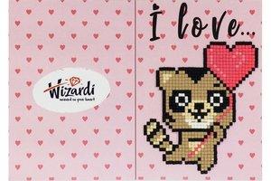 Diamond Paint Card I Love You (raccoon) WD0398