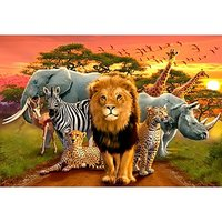 Wizardi Diamond Painting Kit African Beasts WD2403