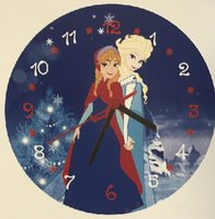 Diamond painting klok Elsa en Anna