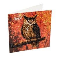 Crystal Card Kit | Diamond painting Autumn Owl