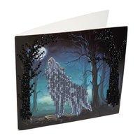 Crystal Card Kit | Diamond painting Howling Wolf
