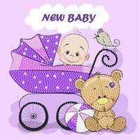 Crystal Card Kit | Diamond painting New Baby