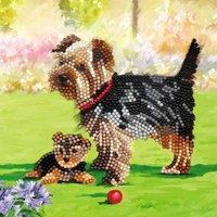 Crystal Card Kit | Diamond painting Dogs