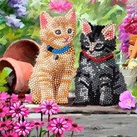 Crystal Card Kit | Diamond painting Cat Friends