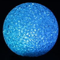 LED lichtbal 8 cm blauw