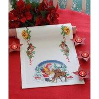 Anchor Santa tablerun 40x100