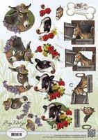 3D Knipvel - Amy Design - Animal Medley - Farm Animals