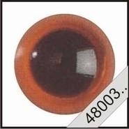 Kunststof ogen amber (transparant)