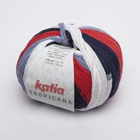 Katia Tropicana kleur 300 Jeans Rood Zwart