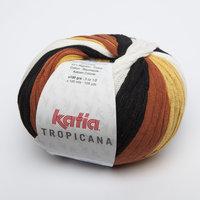 Katia Tropicana kleur 304 Zwart Oker Pasteloranje