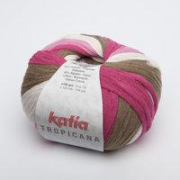 Katia Tropicana kleur 310 Bleekrood Wit Beige