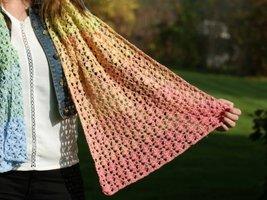 Durable Colourful Glam haakpakket Sjaal