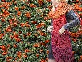Durable Colourful Haakpakket Sjaal Fallen Leaves