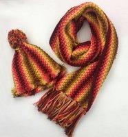 Durable Cosy Haakpakket Sjaal Autumn Red