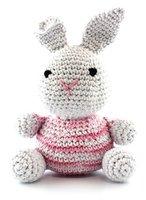 074c1fb3b90 DIY Haakpakket Bunny Eco Barbante Lotus (wit) Marshmallow Swirl  (wit/lichtroze/