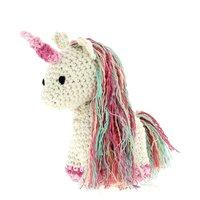 DIY Haakpakket Unicorn Nora Kit Eco Barbant Almond (ecru) Rosberry (licht/midden/donker roze)