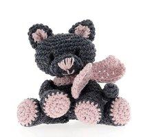 DIY Haakpakket Kitten Kira Eco Barbante Kit Lava (jeansblauw) + Blossom (Roze)