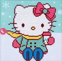 Vervaco Diamond Painting Kit Hello Kitty in the snow