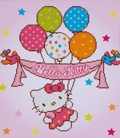 Vervaco Diamond Painting Kit Hello Kitty with balloons