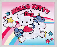 Vervaco Diamond Painting Kit Hello Kitty met eenhoorn