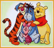 Vervaco Diamond Painting Kit Disney Pooh En Zijn Vrienden