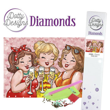 Dotty Designs Diamonds Bubbly Girls Cheers