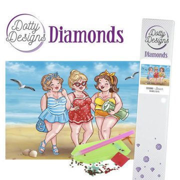 Dotty Designs Diamonds Bubbly Girls Beach