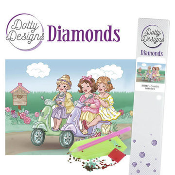 Dotty Designs Diamonds Bubbly Girls Scooter