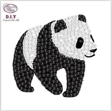 Crystal Art Motif Kit stickers   Panda