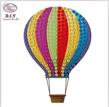 Crystal Art Motif Kit stickers   Hot air Balloon