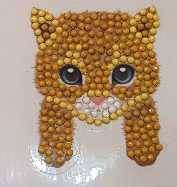 Crystal Art Motif Kit stickers   Cat Paws
