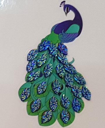 Crystal Art Motif Kit stickers   Peacock