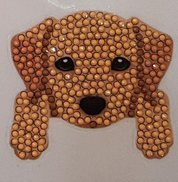 Crystal Art Motif Kit stickers   Dog Paws