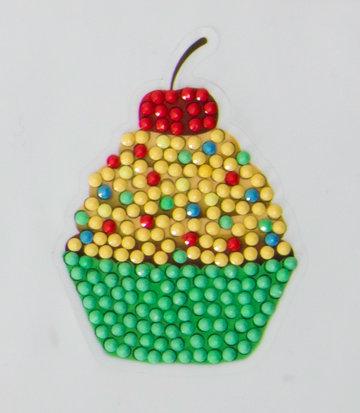 Crystal Art Motif Kit stickers   Cupcake