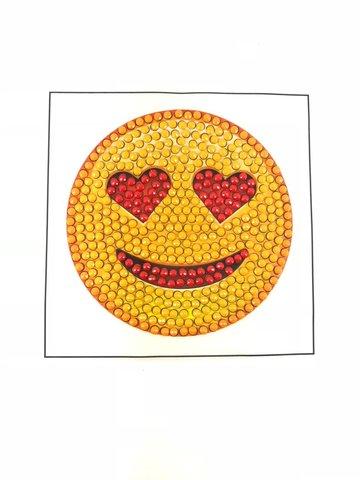 Crystal Art Motif Kit stickers   In Love