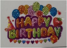 Crystal Art Motif Kit stickers   Happy Birthday