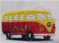 Crystal Art Motif Kit stickers   Camper Van