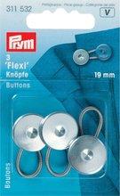 Prym flexi-knopen met lus 19 mm zilverkleurig