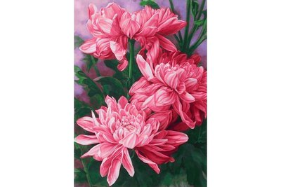 Wizardi Diamond Painting Kit Daisies WD025