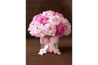 Wizardi Diamond Painting Kit Peonies with Ribbon WD003